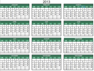 free printable pdf 2013 one page planner