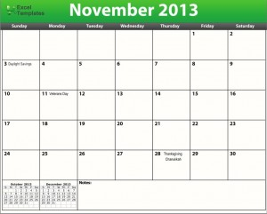 printable pdf november 2013 calendar template download