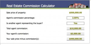 free real estate commission calculator