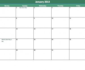 ... calendar template. These are just some of the options for days off