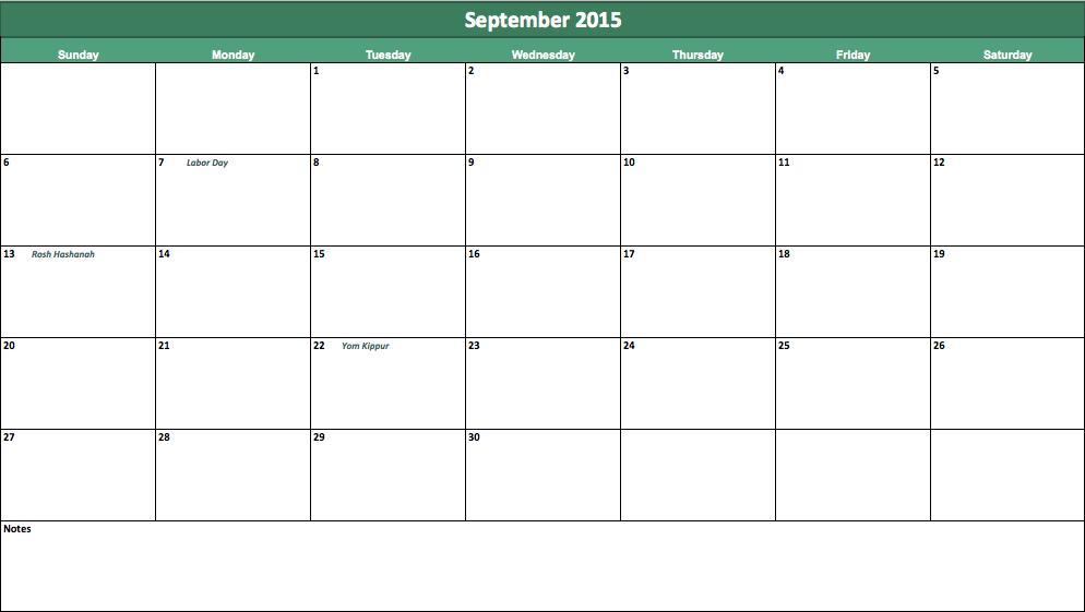 september-2015-calendar templete