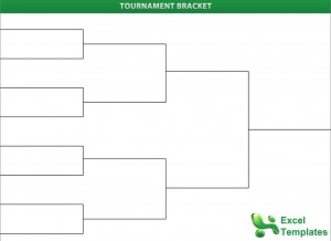 Tournament brackets for Knockout draw sheet template