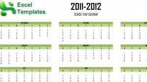 2011-2012 Academic Calendar Template