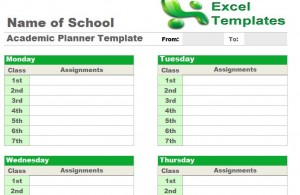 Academic Planner Template