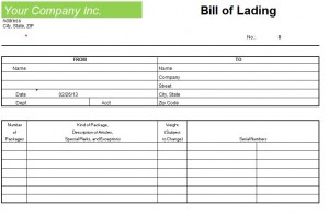 Attractive Bol Forms. Blank Bill Of Lading Template . Regard To Blank Bill Of Lading Form Template