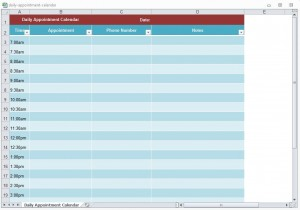 Daily Appointment Calendar Template from ExcelTemplates.net
