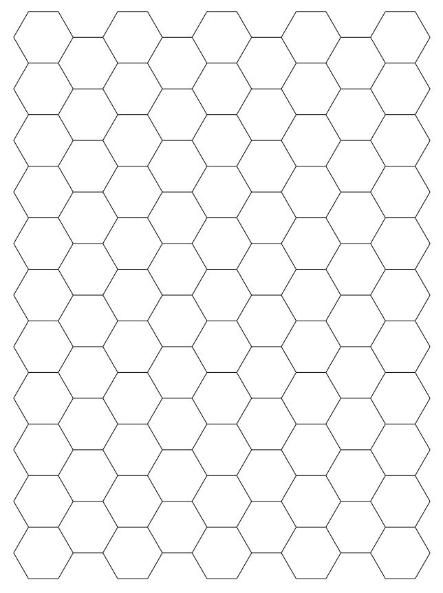 Free Hexagonal Graph Paper  Printable Hexagonal Graph Paper
