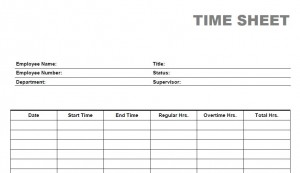 Printable Weekly Time Sheets 300x173 The Ultimate Free Blank Time Sheet Form