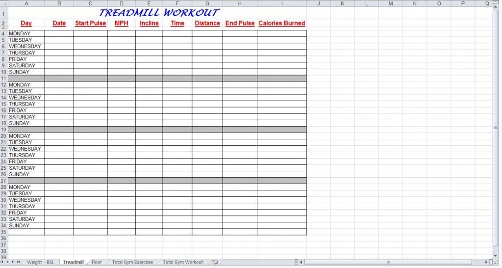 Total Gym Workout Plan Spreadsheet from ExcelTemplates.net
