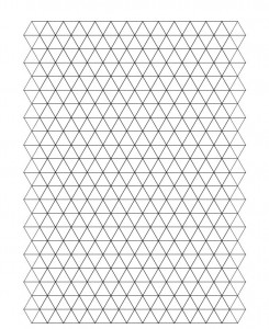 Triangle Graph Paper from ExcelTemplates.net