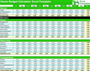 budget calculator excel spreadsheet