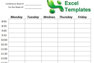 screenshot of the conference room scheduler