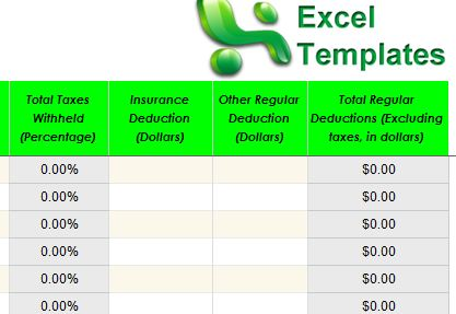 excel payroll calculator