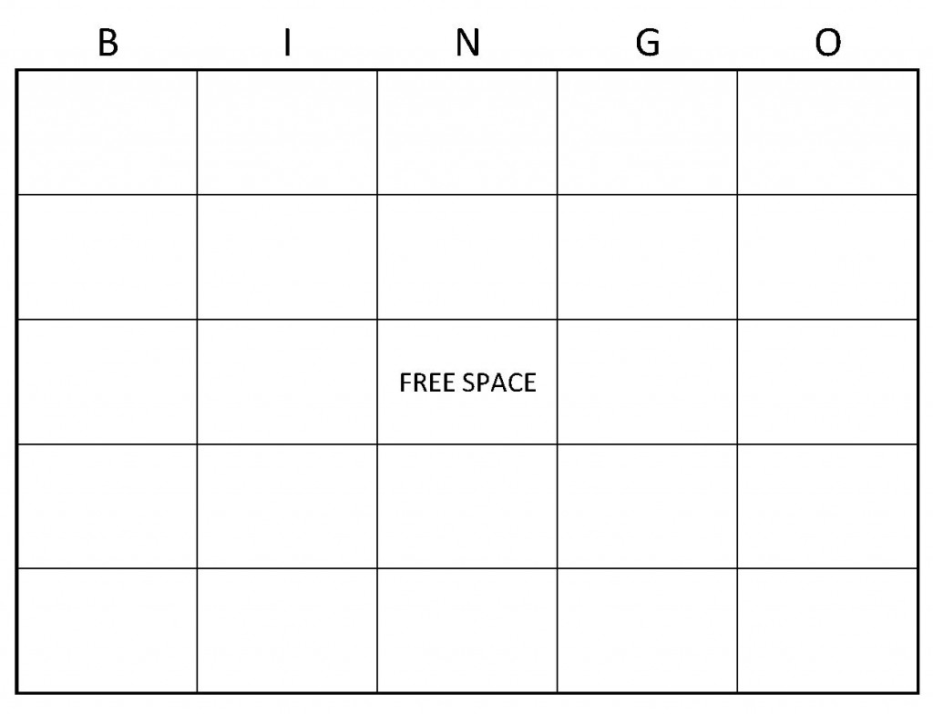 Example of Blank Bingo Cards