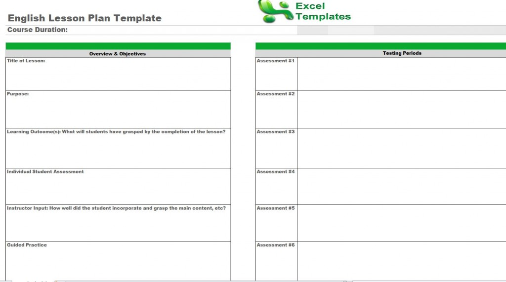 efl lesson plan template - english lesson plan template free english lesson plans