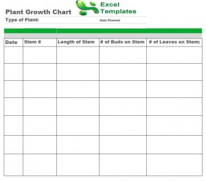 plant growth chart plant growth chart template. Black Bedroom Furniture Sets. Home Design Ideas