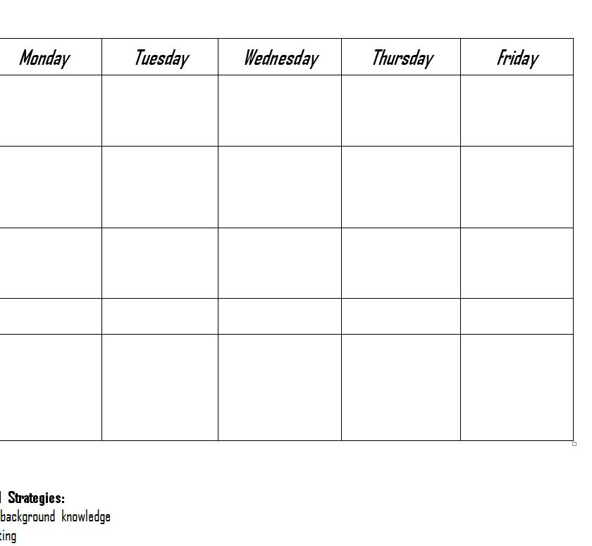Screenshot of the RtI Lesson Plan Template