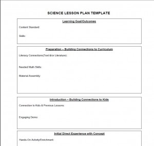 Science Lesson Plan Template | Science Lesson Plans