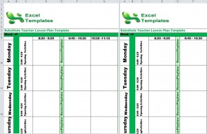 Substitute Teacher Lesson Plan Template from ExcelTemplates.net