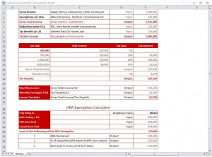 Tax Return Calculator 2012 from ExcelTemplates.net