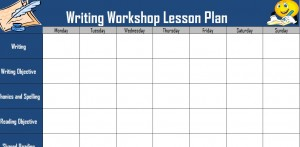 Screenshot of the Writing Workshop Lesson Plan template
