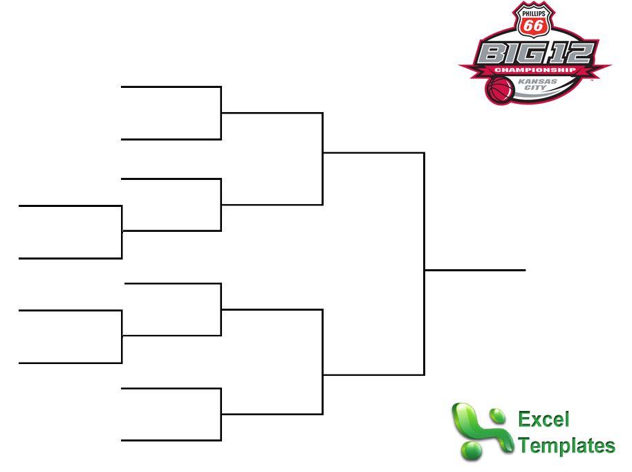 Big 12 Tournament Bracket from ExcelTemplates.net