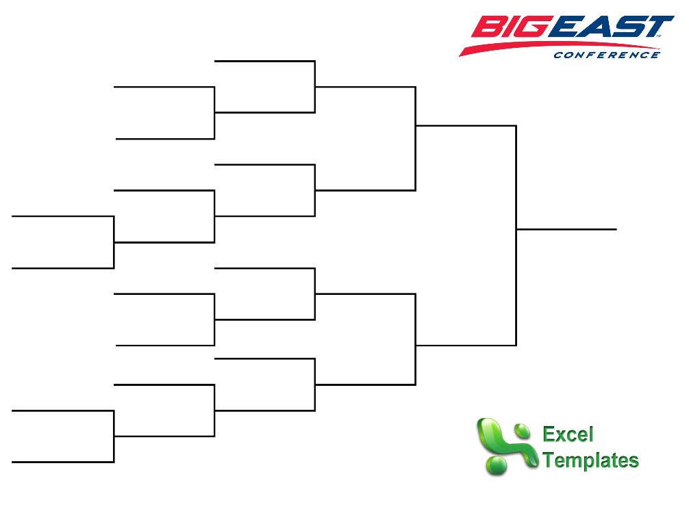 Big East Basketball Tournament from ExcelTemplates.net