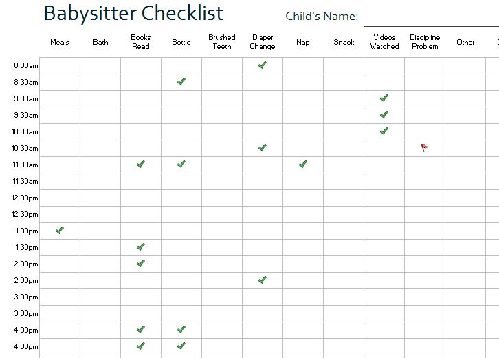 Child Care Log Screenshot