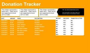 Donation Tracker screenshot