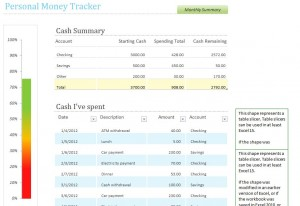 Personal Money Tracker Screenshot