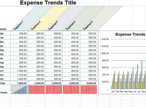 screenshot of the small business expense sheet