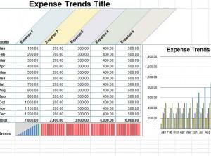 screenshot of the small business expense sheet