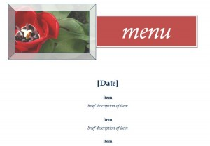 Screenshot of the Restaurant Menu Template