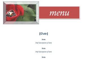 Screenshot of the Restaurant Menu Template