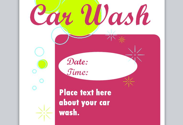 car wash poster template free - car wash flyer template car wash template