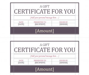 The Gift Certificate Template