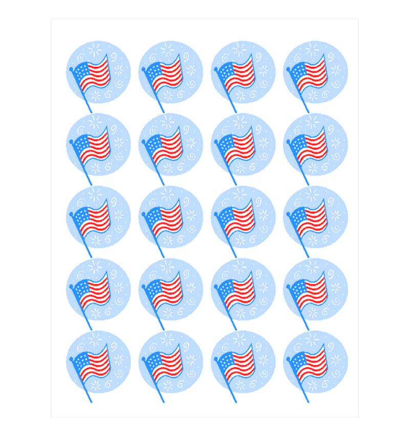 Free American Flag Stickers