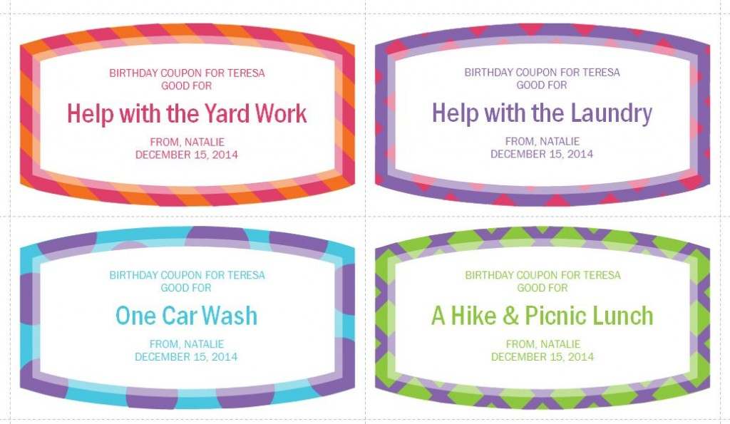 custom coupons free template - birthday gift coupons birthday coupons