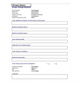 The Change Request Form Template