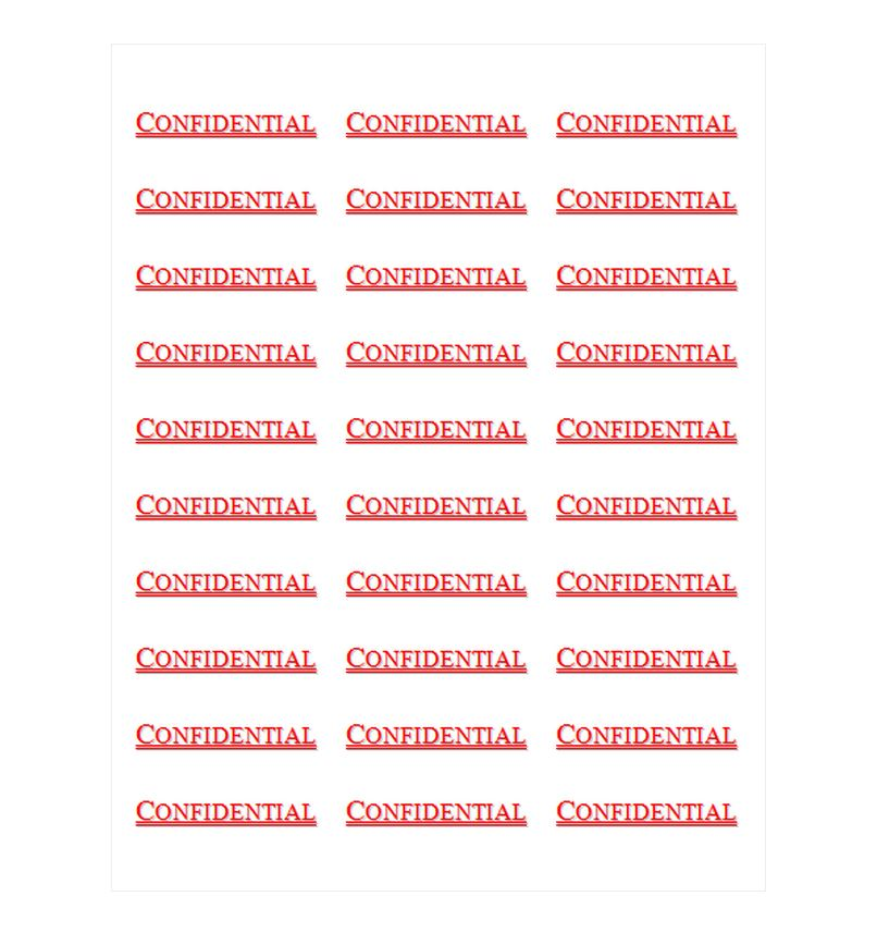 Avery Confidential Labels