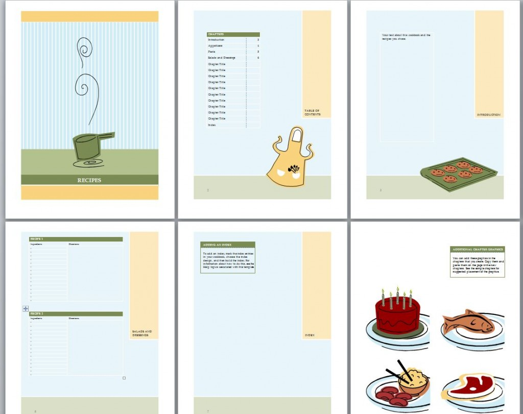 Cookbook template cookbook template word for Template for recipes in word