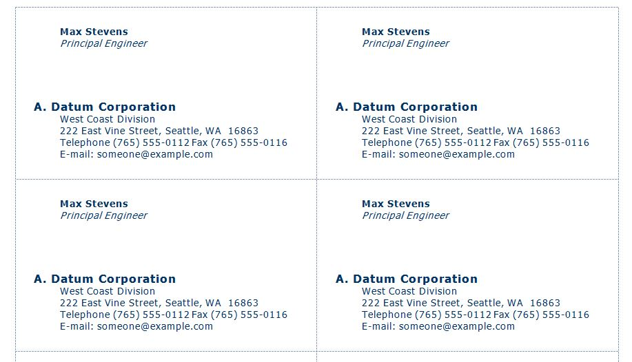 Free Engineer Business Cards
