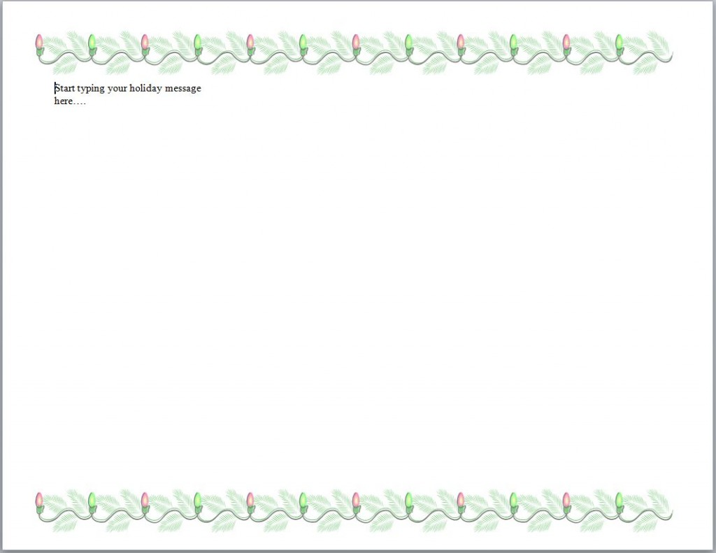 Free Holiday Stationery