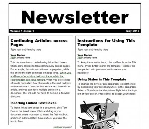 Newsletter-Template-300x261 Sale Business Newsletter Templates on
