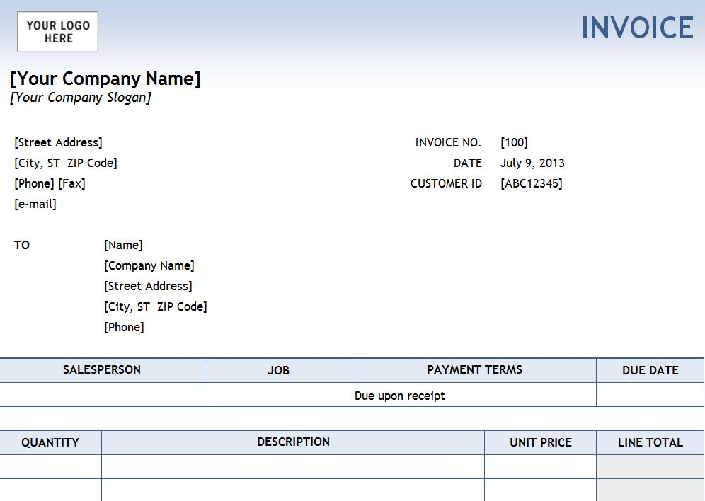 Photo of the Service Invoice Template