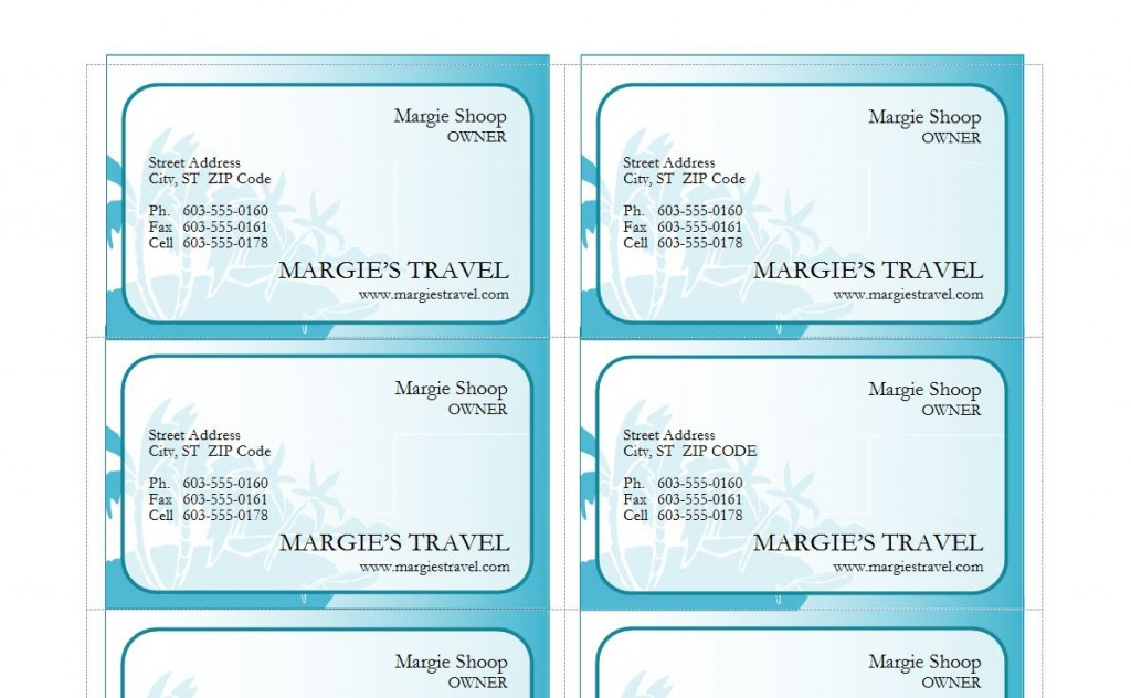 Free Travel Agent Business Cards