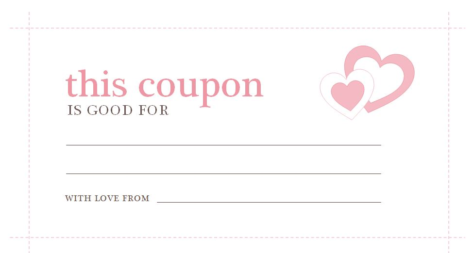 Valentines day coupons valentines day coupons template for Create a coupon template free