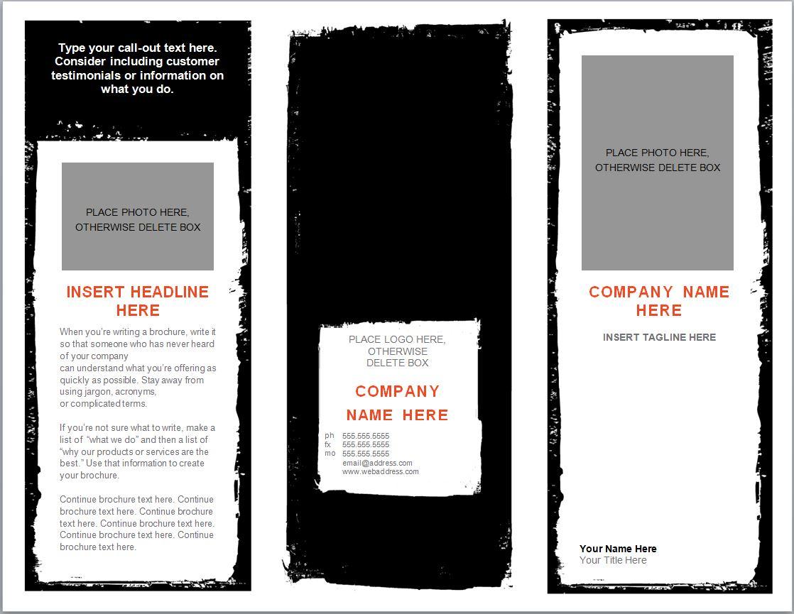 Word Brochure Template Brochure Templates Word