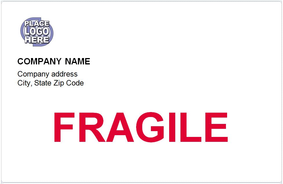 Free Fragile Shipping Labels