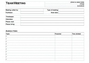 one on one meeting agenda template free - Template